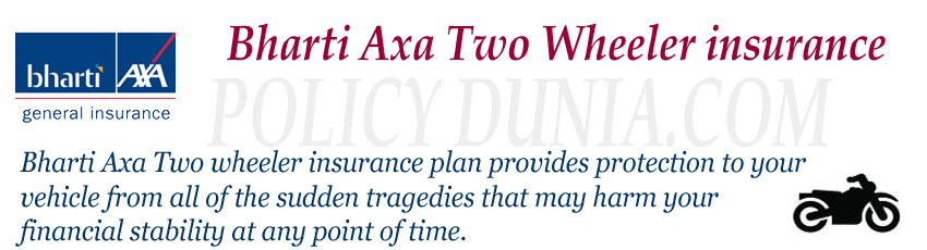Bharti axa two wheeler insurance image