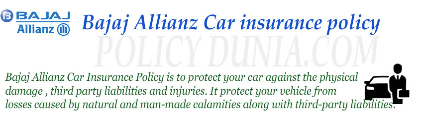Bajaj Allianz Car Insurance Online Premium Calculator