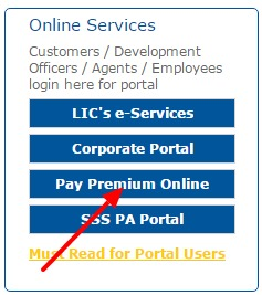 LIC of India Online Services
