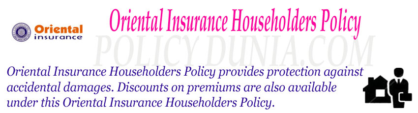 Oriental Insurance Householders Policy Image