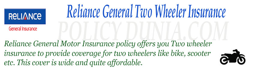 Reliance General Two wheeler insurance image