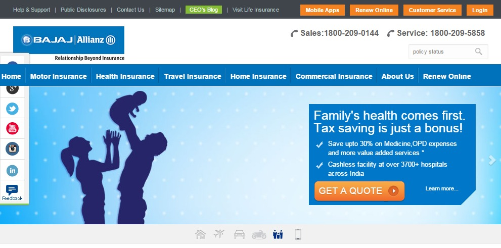 Bajaj Allianz Policy Status Amp Policy Details Check Online