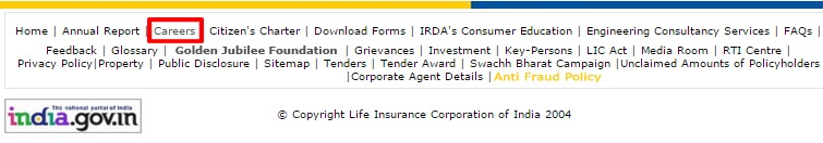 LIC Careers option