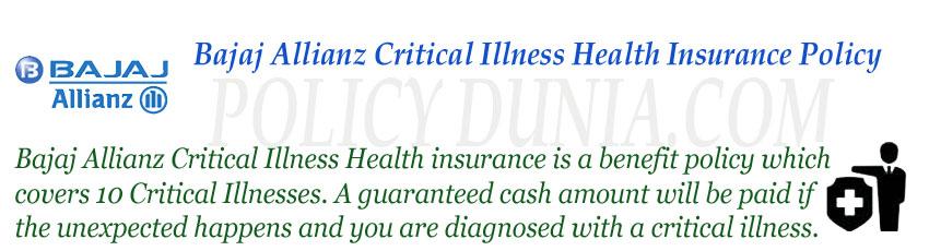 Bajaj Allianz Critical illness image