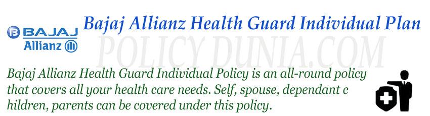 Bajaj Allianz Health guard individual policy image
