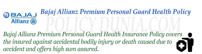 Bajaj Allianz Premium Personal Guard Image