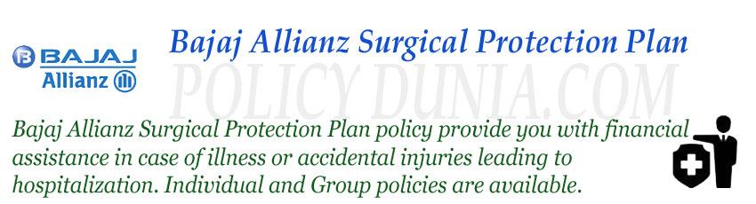 Bajaj Allianz Surgical Protection plan image