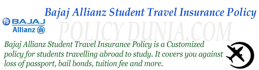 Bajaj allianz student travel insurance image