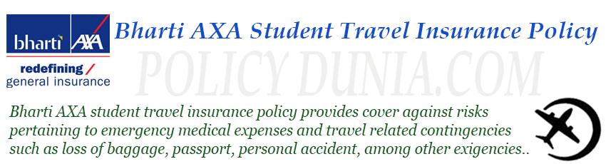 Bharti axa student travel insurace image