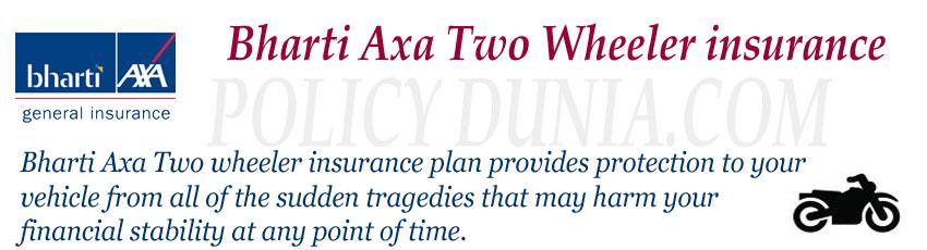 Bharti axa two wheeler insurance image
