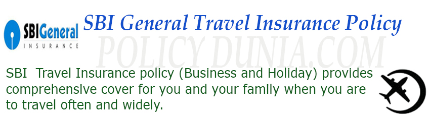 Sbi general travel insurance policy image