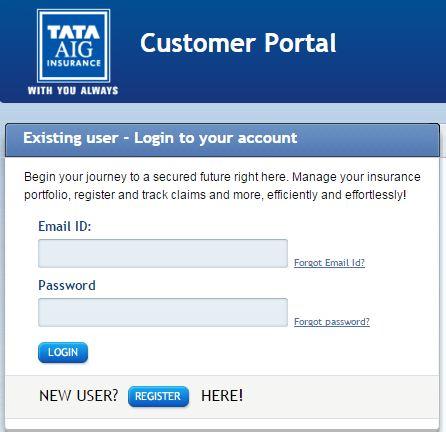 Tata AIG Login image