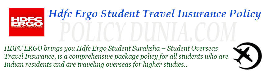 hdfc ergo Student travel insurance image