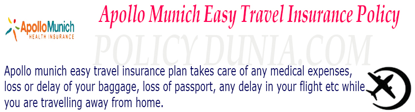 Apollo munich easy travel insurance image