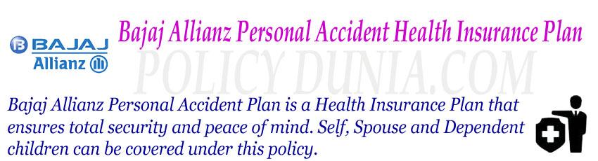Bajaj Allianz Personal Accident Image
