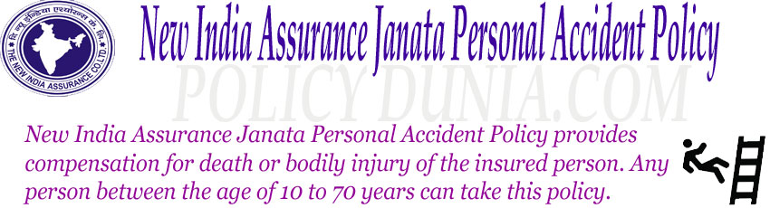 New India Assurance Janata personal accident policy image