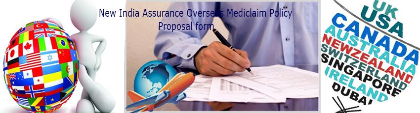 New India Assurance Overseas Mediclaim Proposal Form