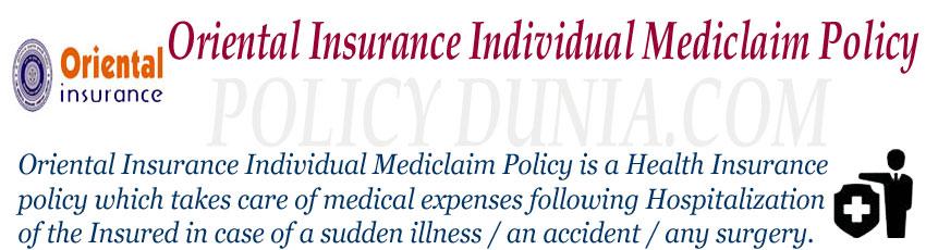 Oriental Insurance Individual Mediclaim Image