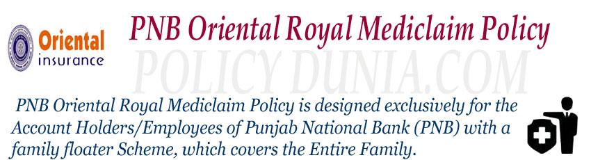 PNB Oriental Royal Mediclaim Image