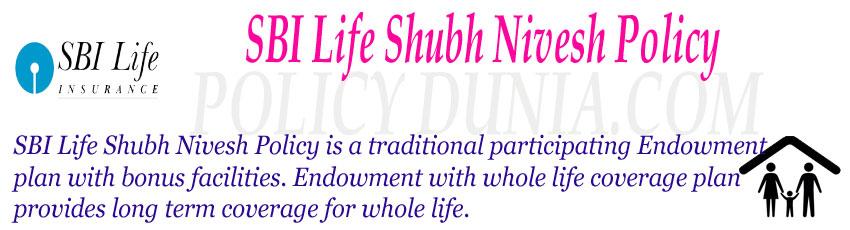 SBI Life Shubh Nivesh Policy Image