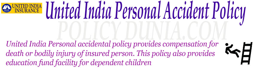 United India Personal Accident Policy Image.