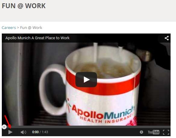 Apollo Munich Recruitment Video