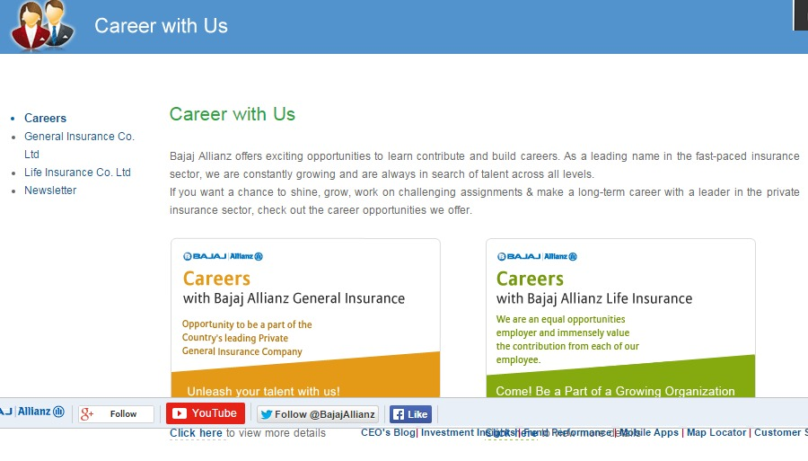 Bajaj Allianz Career