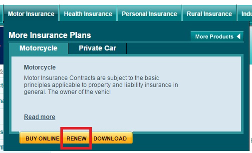 National insurance renewal