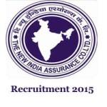 New India Assurance Recruitment 2015