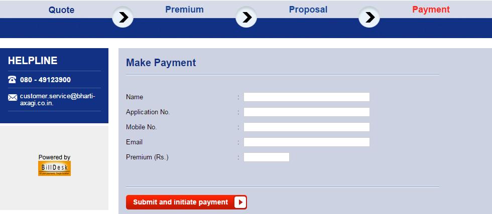 Bharti Axa online premium payment - insurancetalk