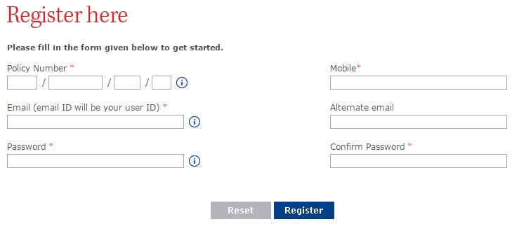 Chola MS Register Page