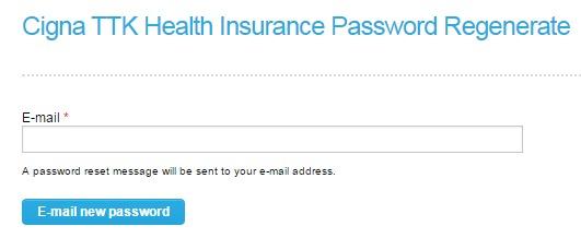 Cigna TTK Password Page