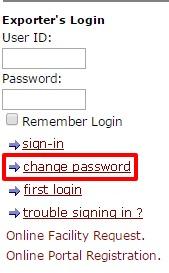 ECGC Change password