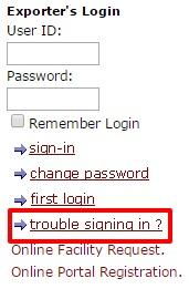 ECGC Trouble Sign option