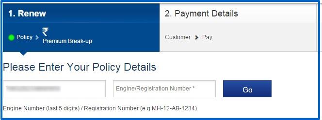 Home Renewal Online Premium Calculation