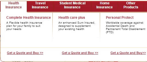 ICICI Lombard Health types