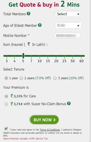 Religare Health buy quote