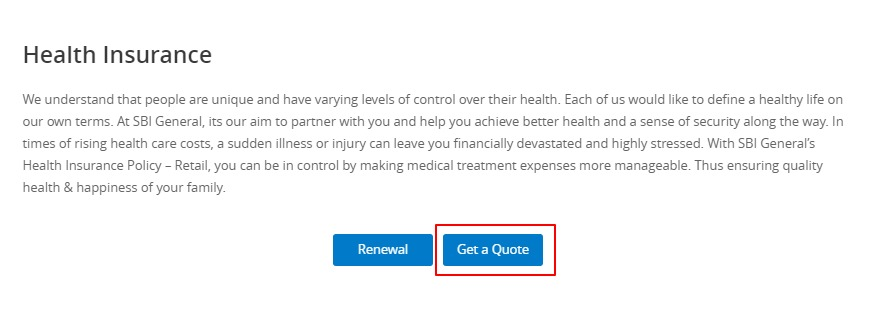 SBI General Health Insurance