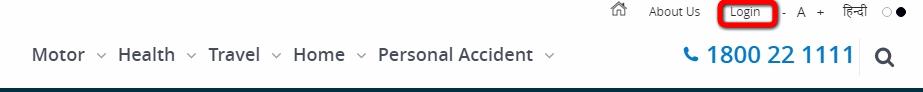 SBI General Insurance Login page