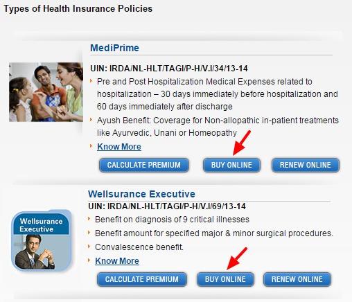Tata AIG Health Insurance Policy online