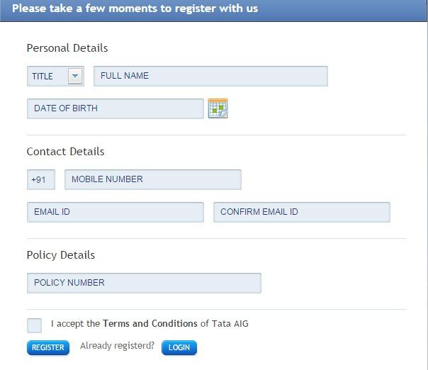 Tata AIG New User