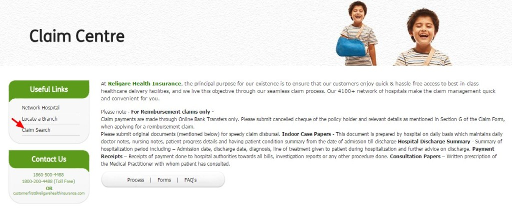 Religare Health Insurance Claim Process, Status | claim form