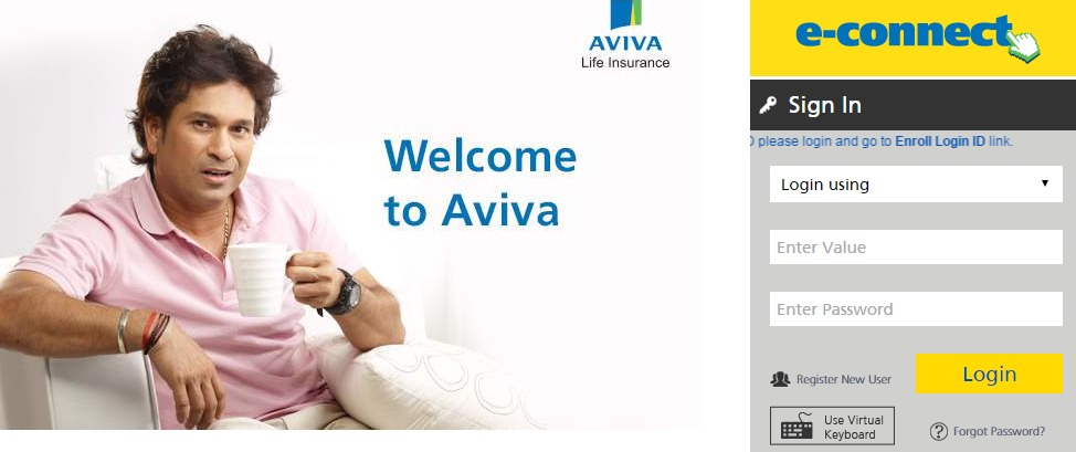 Aviva Life Insurance Login | Aviva New User Login Process
