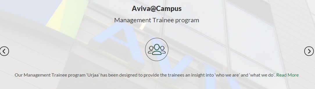 Aviva life management trainee