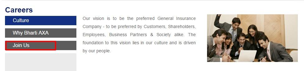 Bharti AXA General Insurance Careers Job Openings