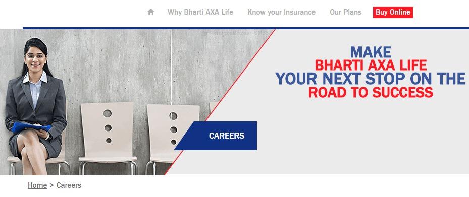 Bharti AXA Life Insurance Recruitment - Careers | Post CV
