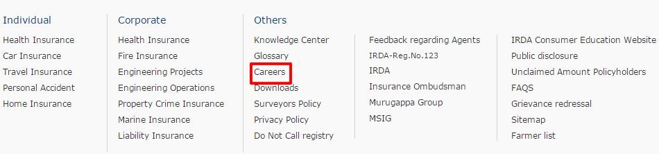 Chola MS careers option