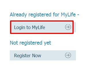 Exide Life Login page