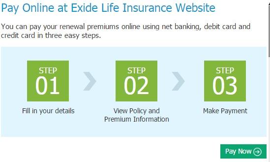 Exide Life premium online