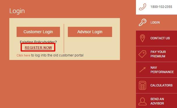 Future Generali Life register now option